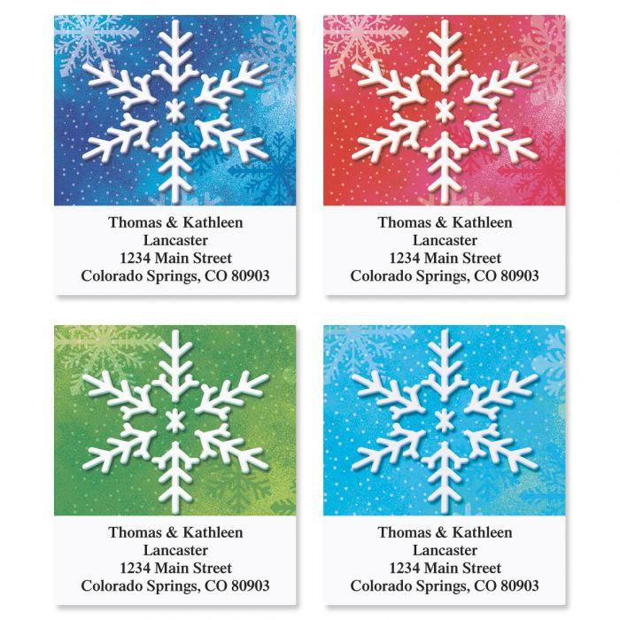 Snowflake Address Labels  (4 designs)