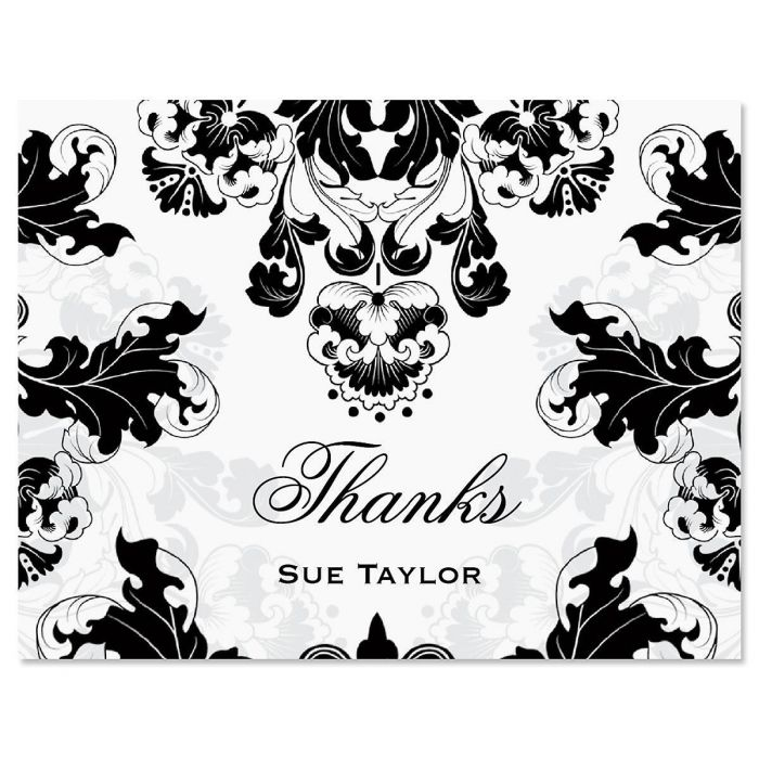 Rococo Custom Thank You Cards