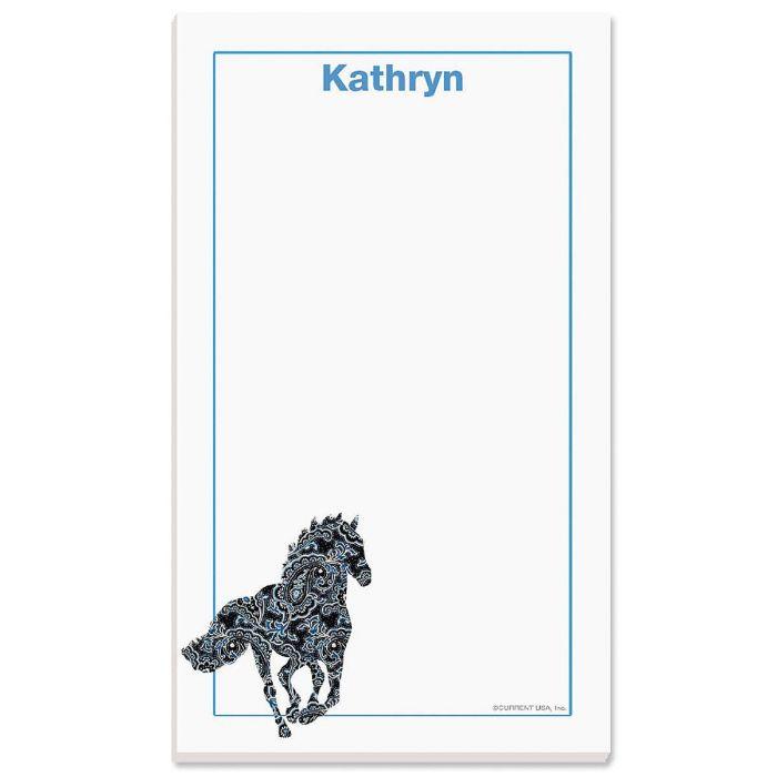 Horse Patterns Custom Memo Pads