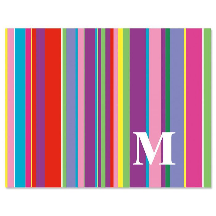 bold initial note cards set of 24 - Initial Note Cards