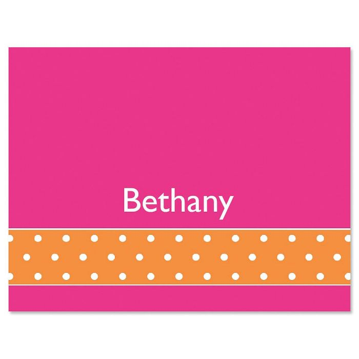 Zesty Dots Custom Note Cards