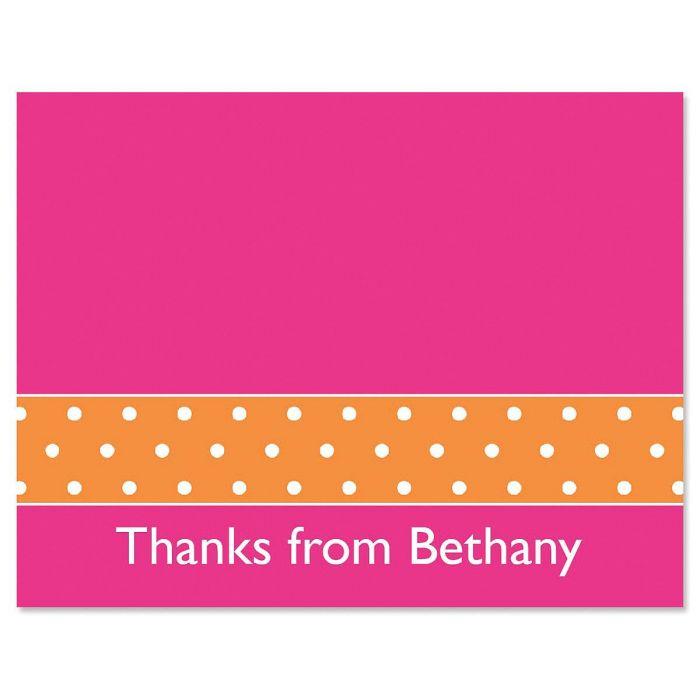 Zesty Dots Custom Thank You Cards