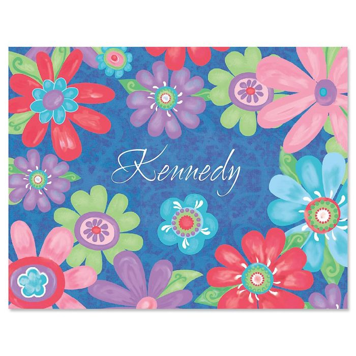Blossom Personalized Note Cards - Set of 24