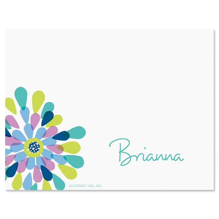 Fresh Blooms Personalized Correspondence Cards