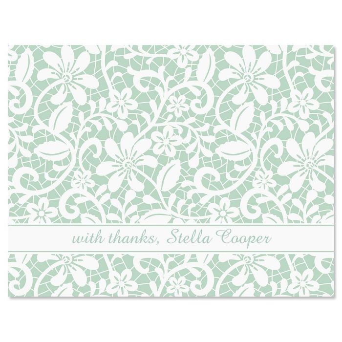 Lace Custom Thank You Cards