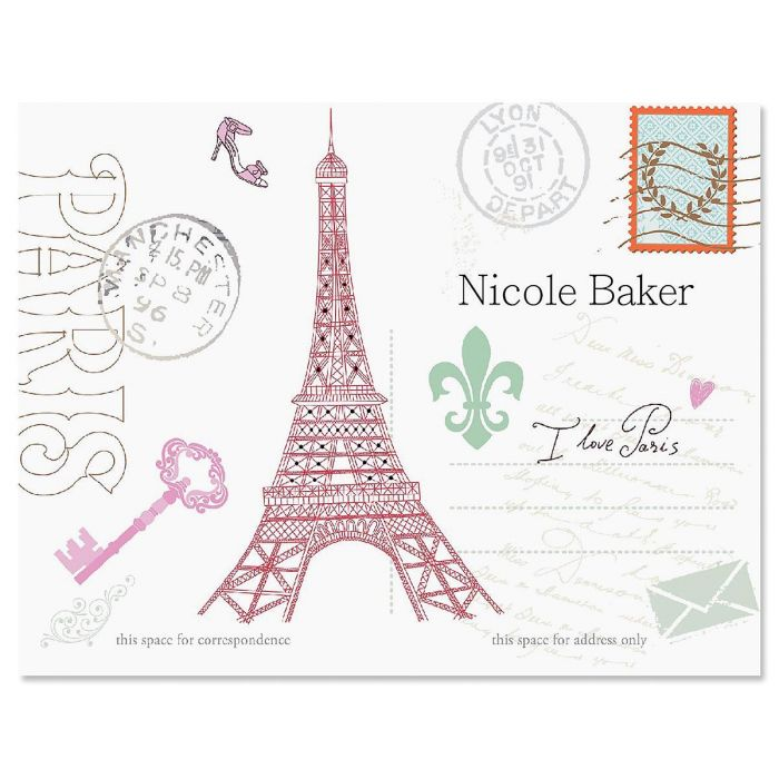 Paris Custom Note Cards