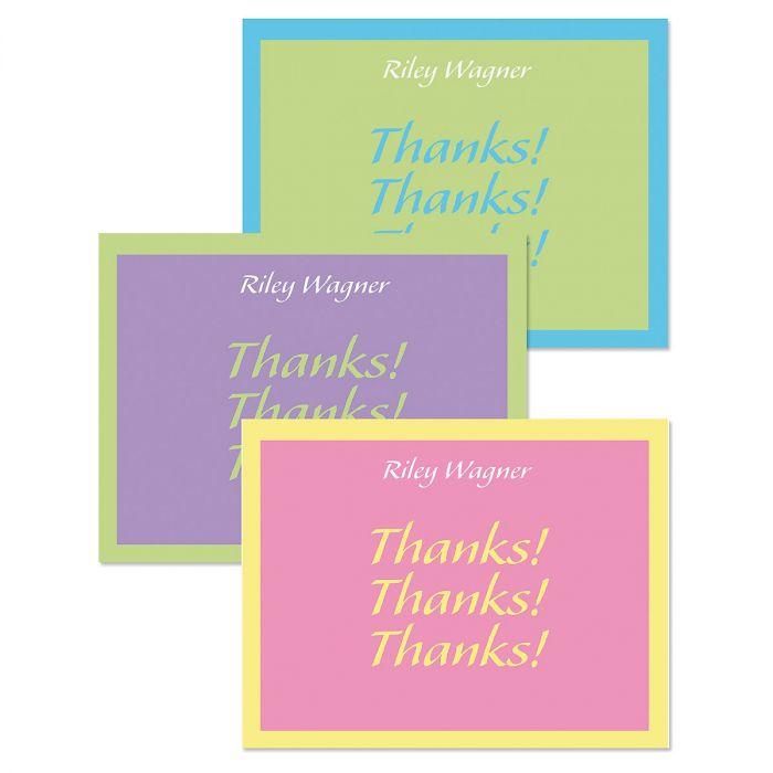 Bordered Hues Custom Thank You Cards