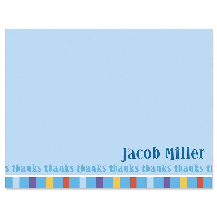 Color Bar Custom Thank You Cards