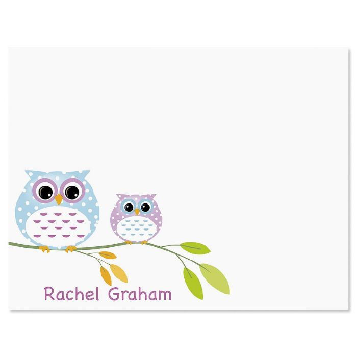 Owl Always Love You Personalized Correspondence Cards