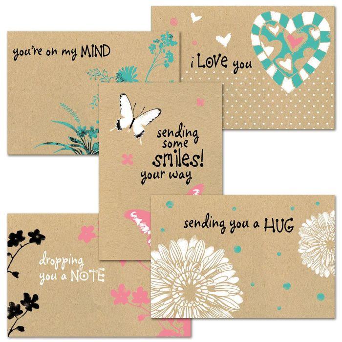 Everyday Hugs Kraft Cards Value Pack