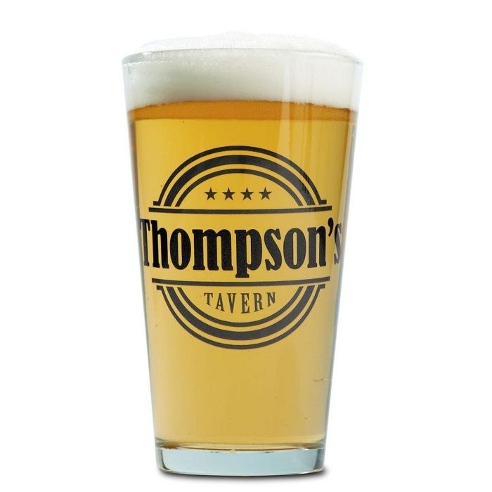 Tavern Name Personalized Pint Glass