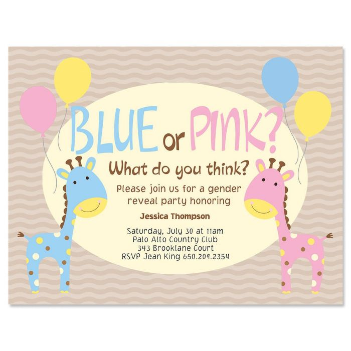 Baby Reveal Personalized Invitation