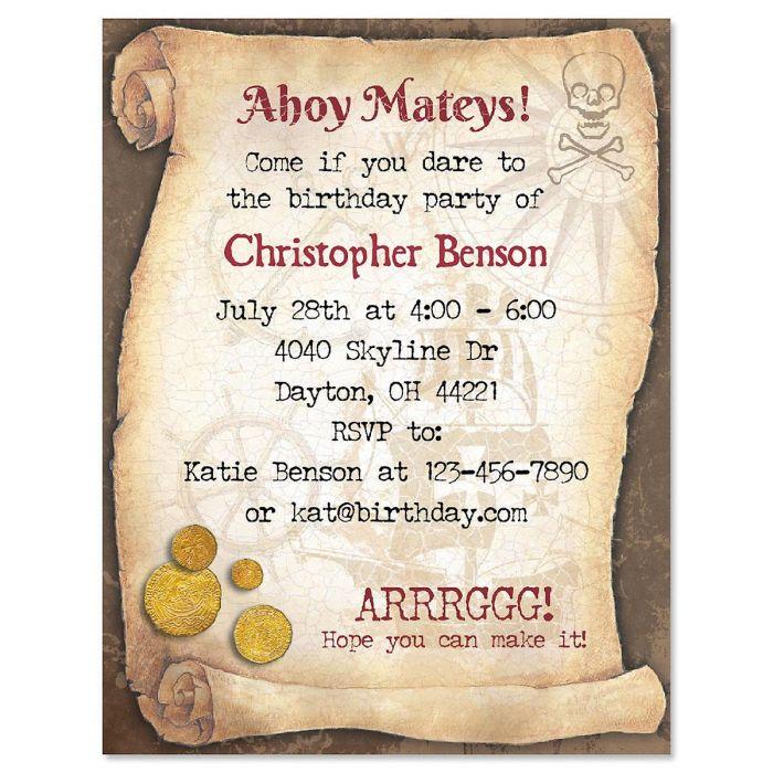 Pirate Adventure Personalized Invitation