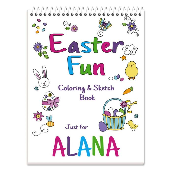 Easter Personalized Coloring Book