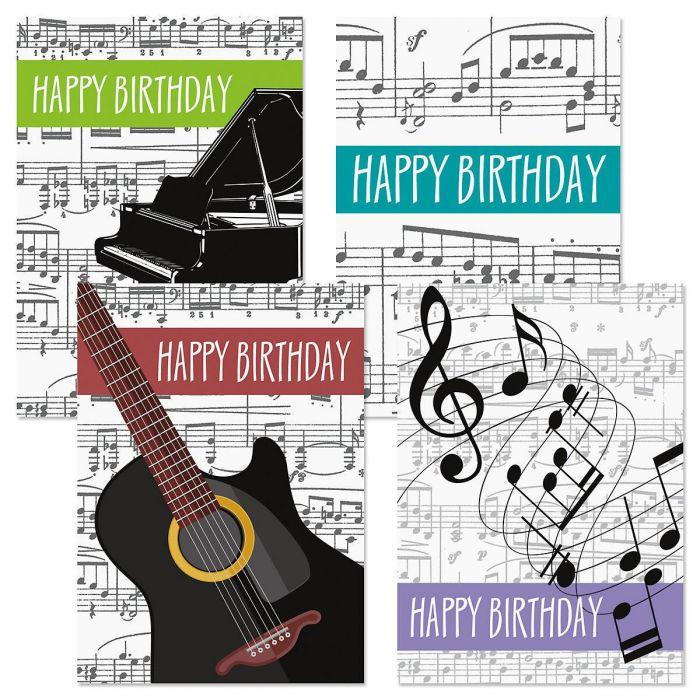 Music-Theme Birthday Cards