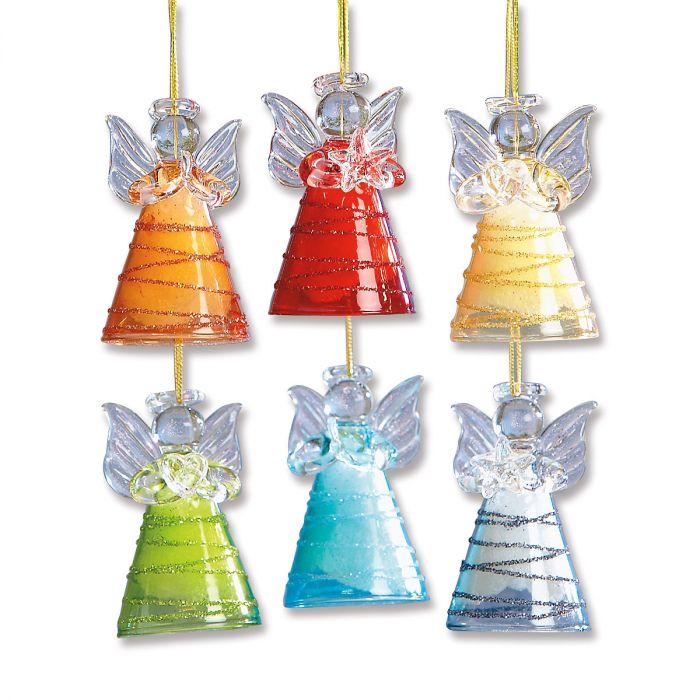 Glass Angel Ornaments