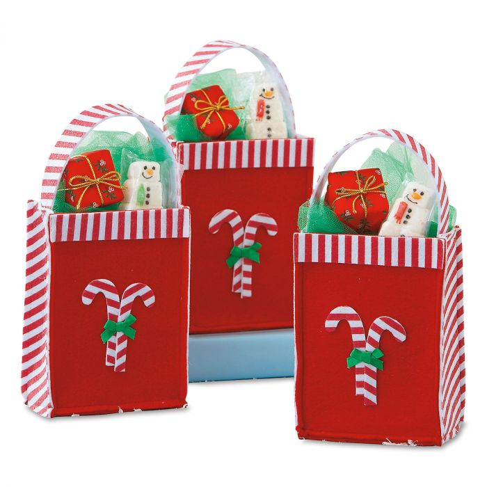 Candy Cane Felt Party Treat Bags