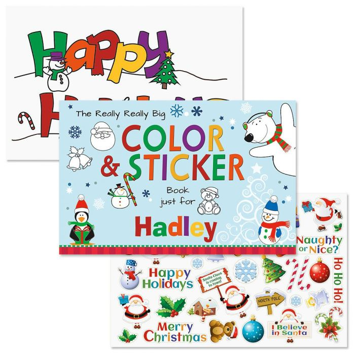Really Big Personalized Coloring Book & Stickers | Colorful Images