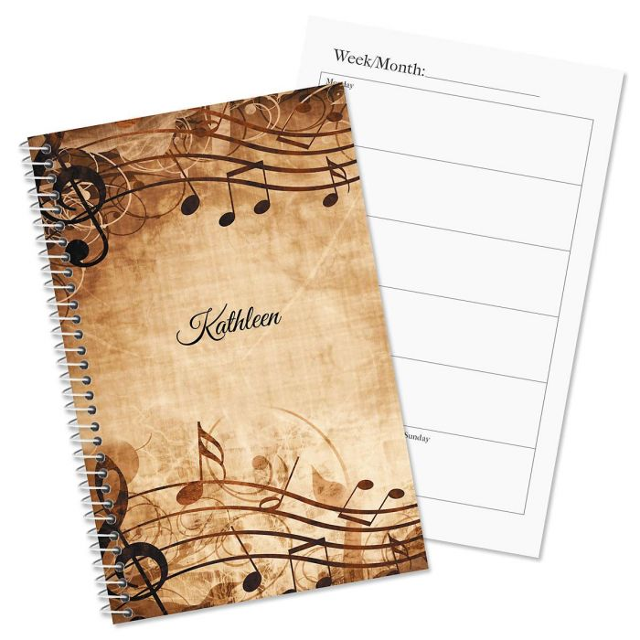 Sheet Music Personalized Planner