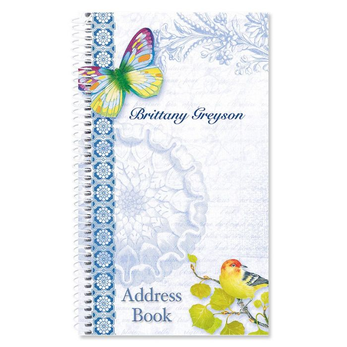 Exotic Prints Personalized Lifetime Address Book