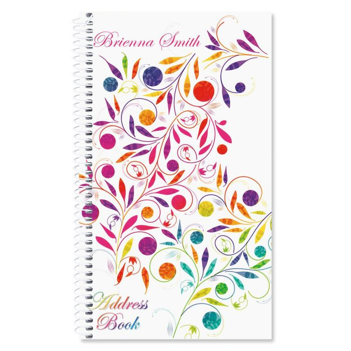 Color Swirl Personalized Lifetime Address Book