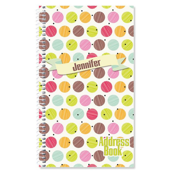 Doodle Dots Personalized Lifetime Address Book
