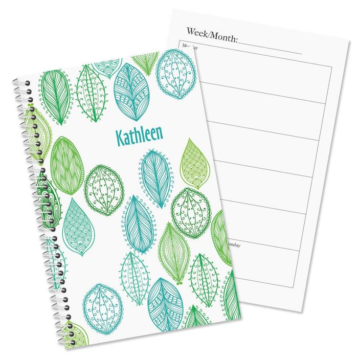 Abstract Leaves Personalized Planner
