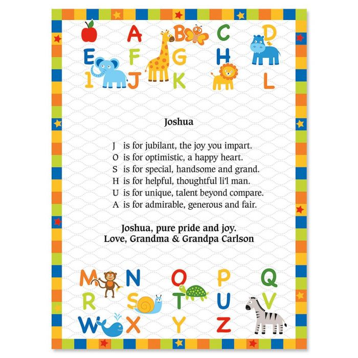 Alphabet Name Poem Print