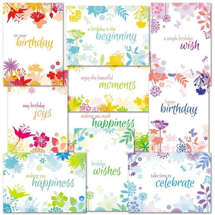 Botanical Birthday Cards