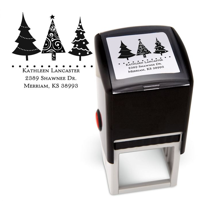 Christmas Trees Square Stamp