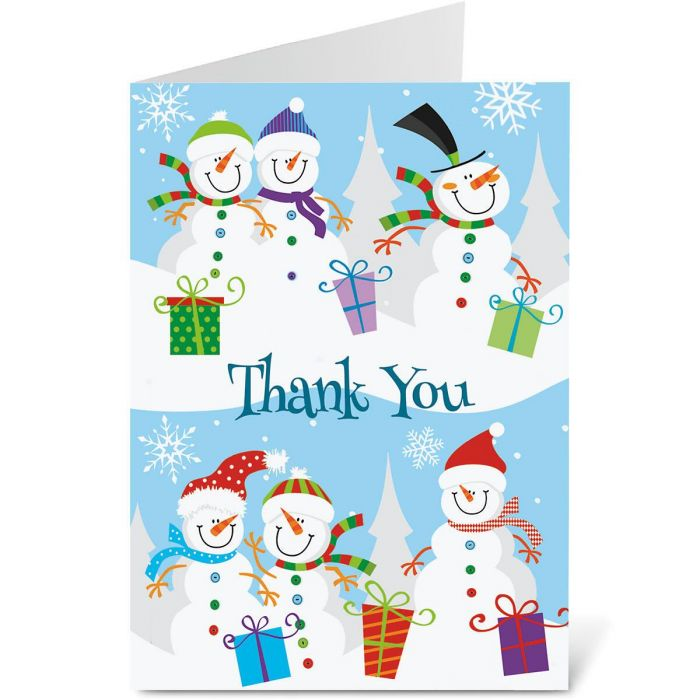 Holiday Thank You Note Cards - Buy 1, Get 1 Free