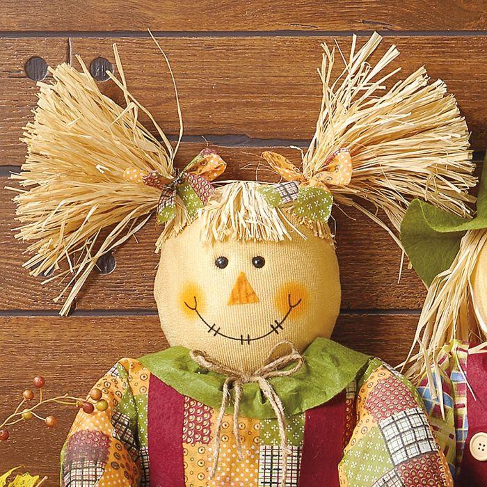 Sitting Girl Scarecrow