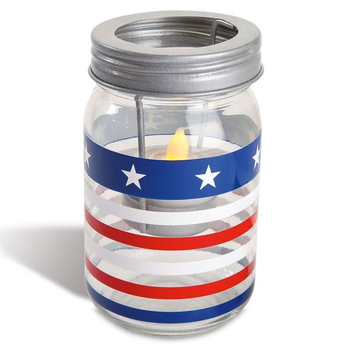 Patriotic Jar Candle Holders