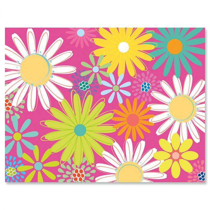 Pink Daisy Note Cards