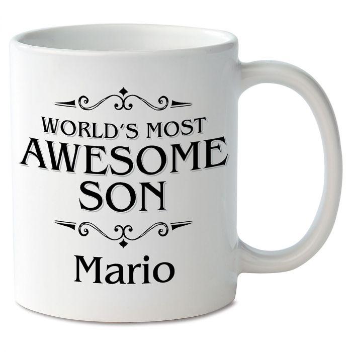 World's Most Awesome Son Novelty Mug