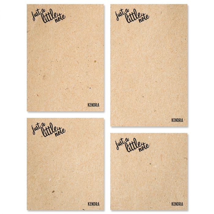 Just A Note Custom Memo Pad Sets