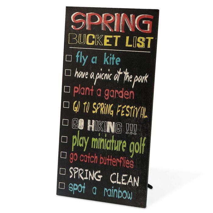 Spring Bucket List Plaque