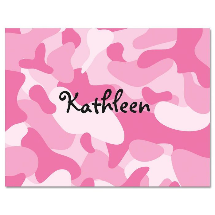 Pink Camouflage Custom Note Cards
