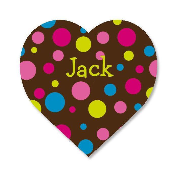 Custom Dots Heart Stickers