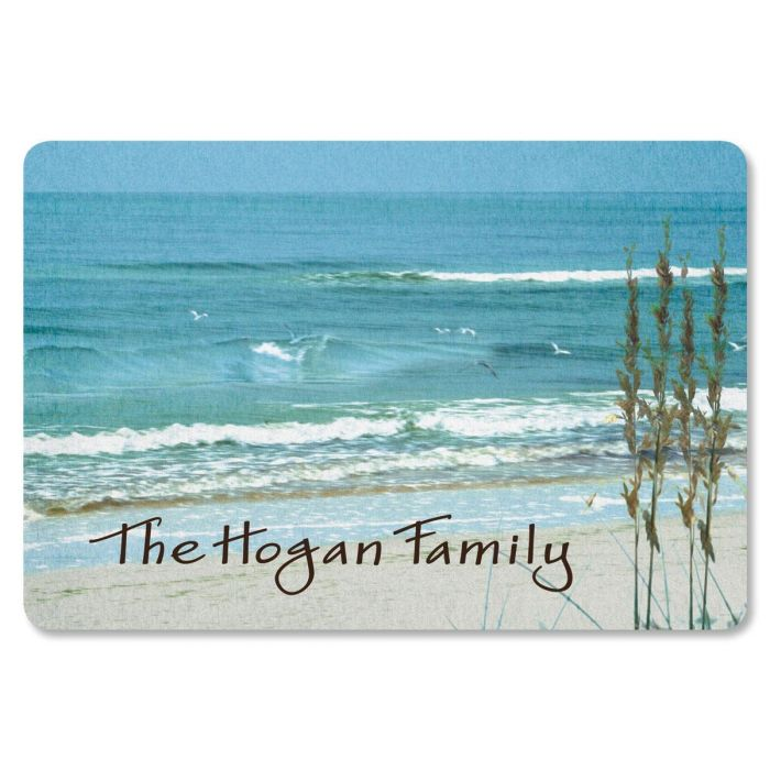 Seashore Welcome Custom Doormat