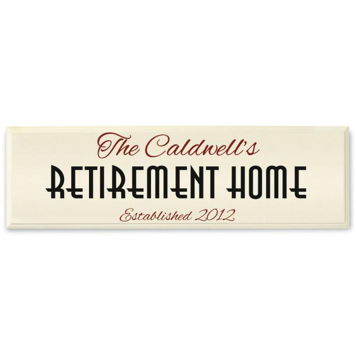 Retirement Home Personalized Wooden Plaque