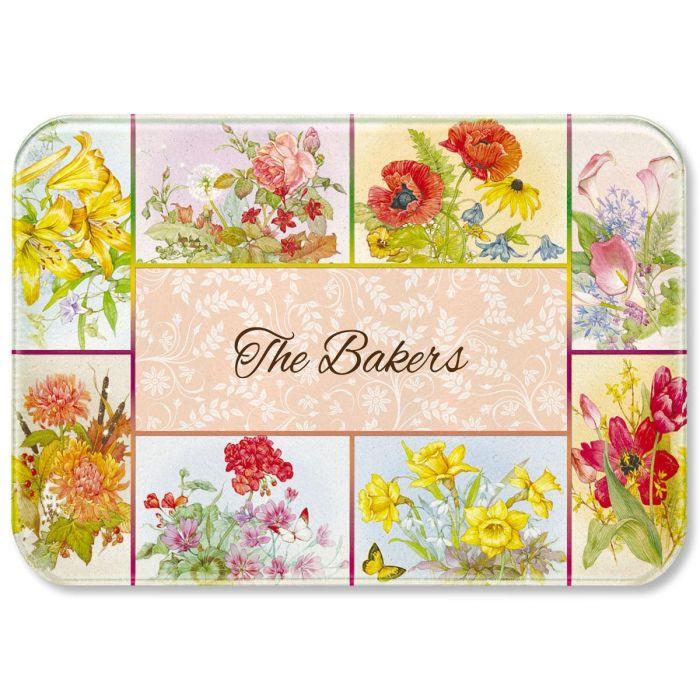 Beautiful Flowers Personalized Custom Cutting Board