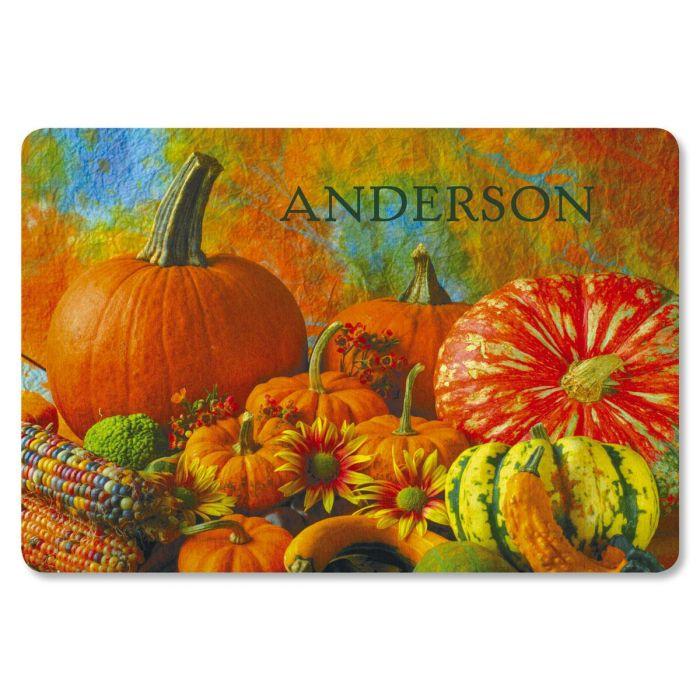 Beautiful Pumpkins Custom Doormat