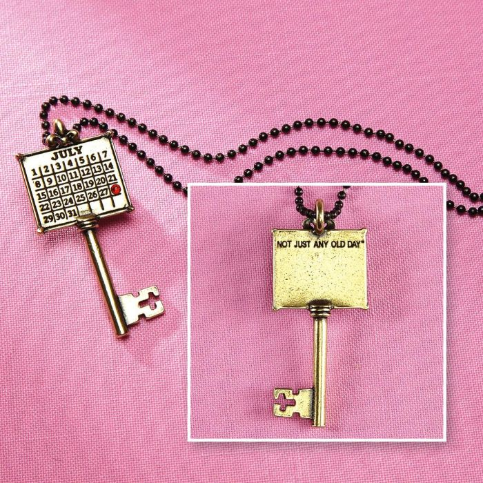 Your Special Day Personalized Calendar Key Pendant