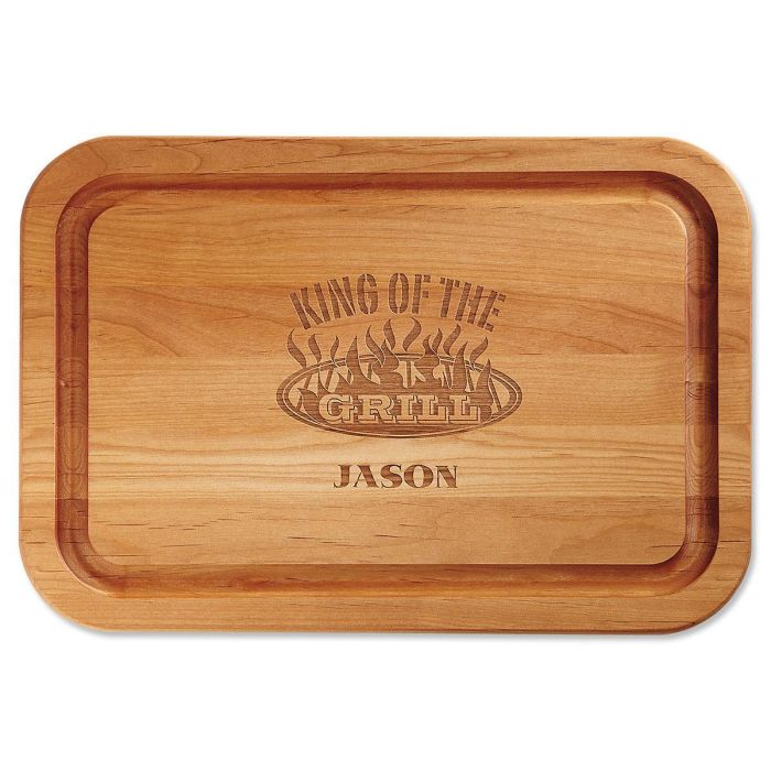 King of the Grill Custom Wood Cutting Board