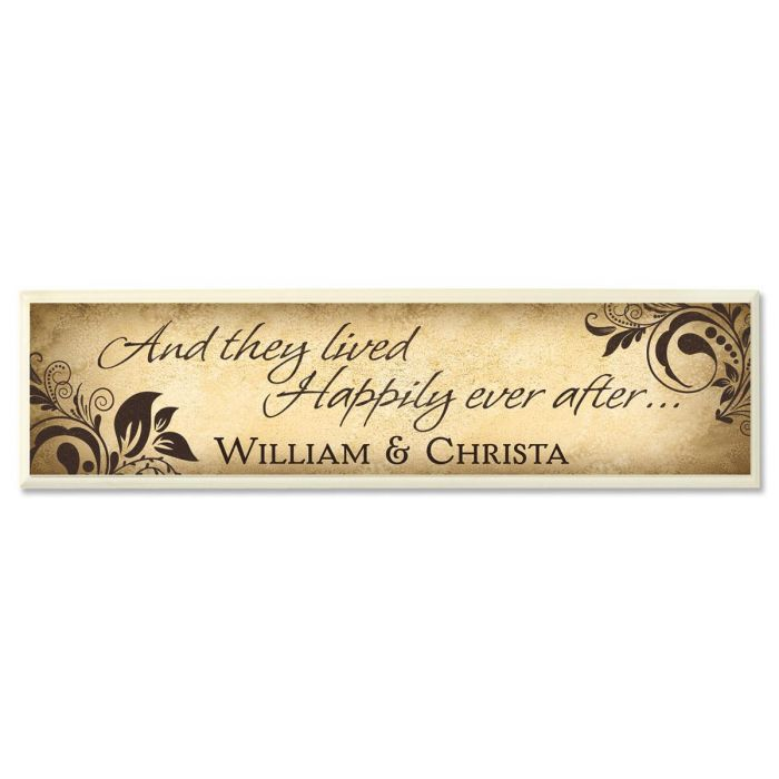 Happily Ever After Personalized Wooden Plaque