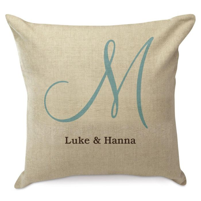 Large Initial Custom Pillow