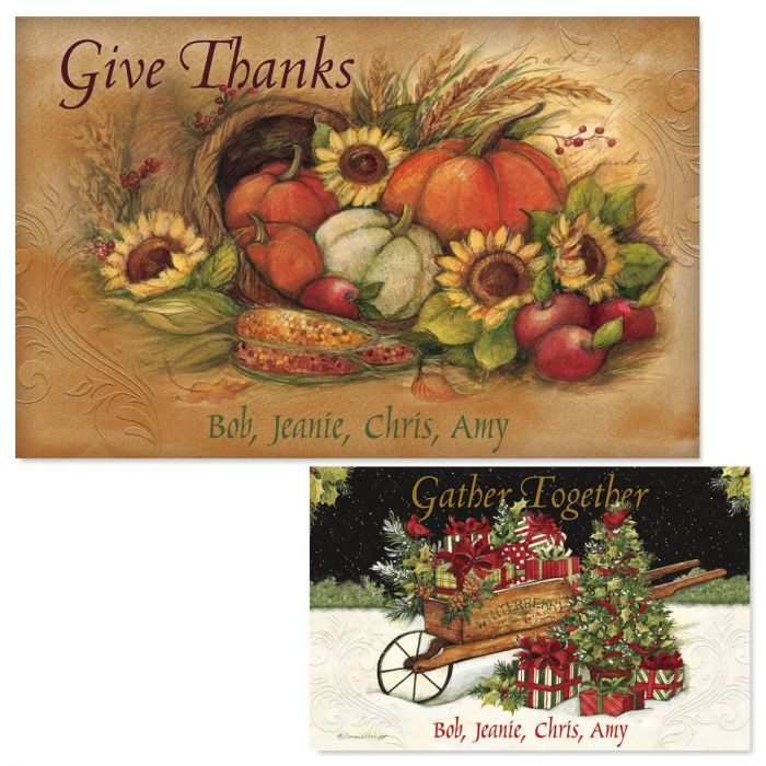 Reversible Autumn Personalized Placemats