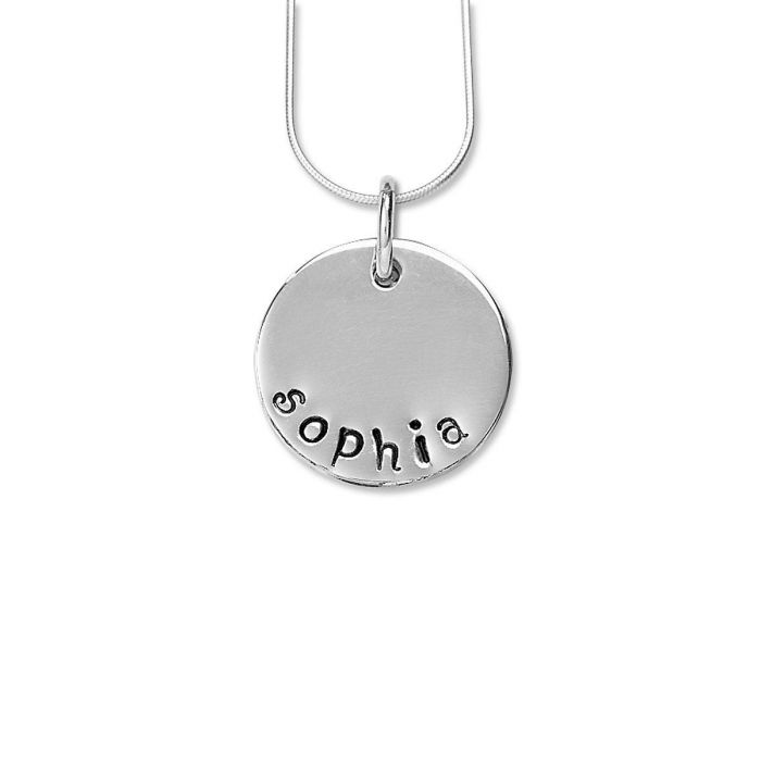 Hand-Stamped Circle Pendants - 4 Designs