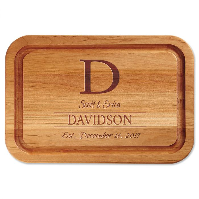 Personalized Initial Custom Wood Cutting Board